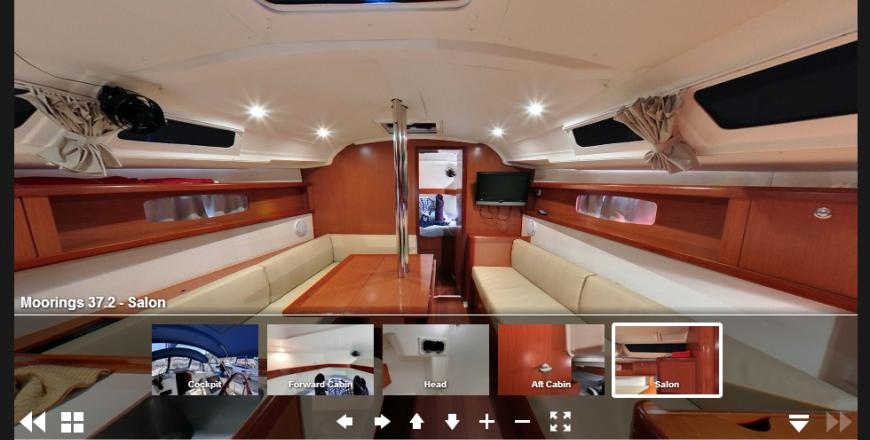 Used boat virtual tour